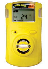 Gas Clip Technologies SGC-H Two-Year Single Gas Clip Detector, Hydrogen Sulfide (H2S), Yellow