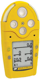 BW Technologies GasAlertMicro 5 IR Detector CO2 (IR), % LEL, O2, H2S, CO - Rechargeable Battery and Pump - Black Housing
