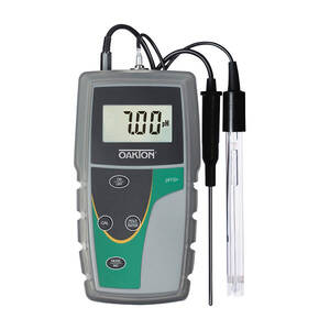 "Oakton ppH 5+ Meter Kit with ""All-in-one"" pH Electrode, pH Buffer Solutions, Sample Bottles, Rubber Boot, Batteries, and Carrying Case - WD-35613-54"