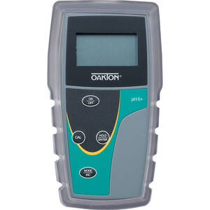Oakton pH 6+ Meter with Probe, 0 to 100°C Temperature Range, 0.00 to 14.00 pH Range, and ±1999 mV Range - WD-35613-22