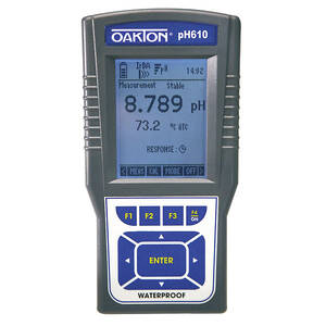 Oakton pH 620 Portable Waterproof pH Meter with All-in-One pH/Temperature Probe and Case Kit - WD-35418-90