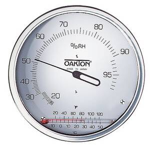 Digi-Sense Wall Mount Thermo-Hygrometer with Glass Thermometer - WD-03313-70