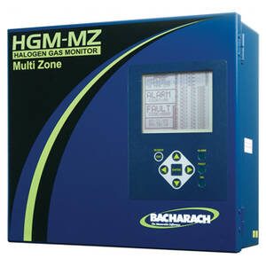Bacharach 3015-5044 HGM-MZ 8 Zone Halogen Gas Monitor, 120-240 VAC / 50/60Hz Input Power