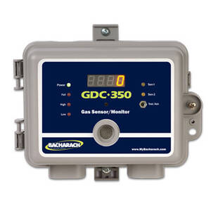 Bacharach 5942-0130 GDC-350 Gas Sensor Monitor, NEMA 1 Housing, CO & Remote Combustible with Display