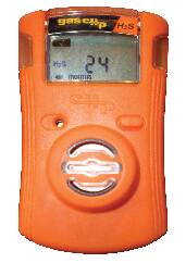 Gas Clip Technologies SGC-P-C Single Gas Clip Plus Detector with Hibernate Mode, Carbon Monoxide (CO), Orange