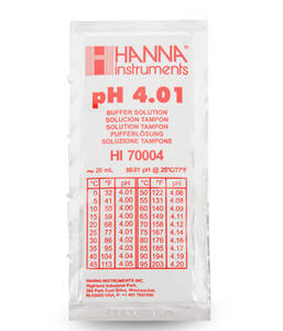Hanna 4.01 pH Buffer Solution, (25) 20 mL - HI70004P