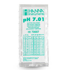 Hanna 7.01 pH Buffer Solution (25) 20 mL Sachets - HI70007P