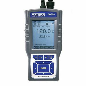 Oakton DO 600 Portable Waterproof Dissolved Oxygen Meter with Probe, with NIST Traceable Certificate of Calibration - WD-35441-01