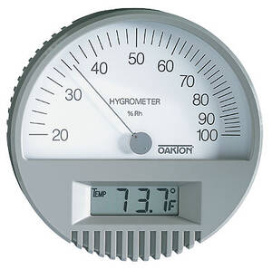Digi-Sense Wall Mount Thermo-Hygrometer with Digital Thermometer - WD-35700-00