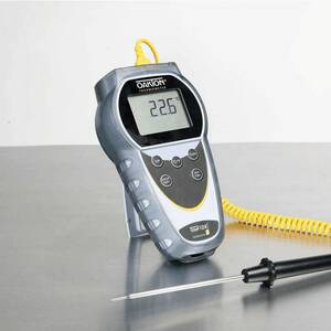 Oakton Temp 10 Type K Thermocouple Thermometer with NIST-Traceable Meter and Probe Calibration (order probe separately) - WD-35427-12