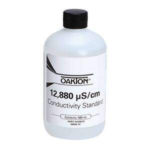 Oakton 12,880 µS Conductivity/TDS Calibration Solution 500 mL (1-pint) Bottle - WD-00606-10