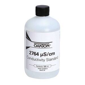 Oakton 2764 µS Conductivity/TDS Calibration Solution 500 mL (1-pint) Bottle - WD-00653-20