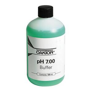 Oakton pH 7.00 Calibration Buffer Solution 500 mL (1-pint) Bottle - WD-00654-04