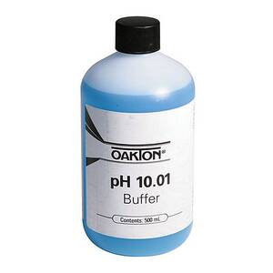 Oakton pH 10.00 Calibration Buffer Solution 500 mL (1-pint) Bottle - WD-00654-08