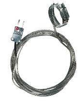 "Digi-Sense 0.5-1.5"" Dia. Hose Clamp Surface Thermocouple Probe with SS Cable, Type K - WD-08469-32"