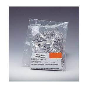 Oakton Replacement Free Chlorine Reagent for 10mL Samples, 100 Foil Packs - WD-35645-64